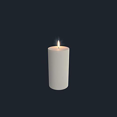 "Uyuni Lighting - Candela a LED ""Pillar"", 7,8 x 15,2 cm, colore: Bianco"