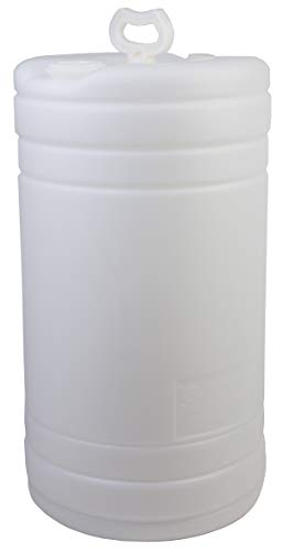 "Hudson Exchange 15 Gallon Tight Head Drum with 2"" & 3/4"" Fittings, UN Rated, HDPE, Natural"