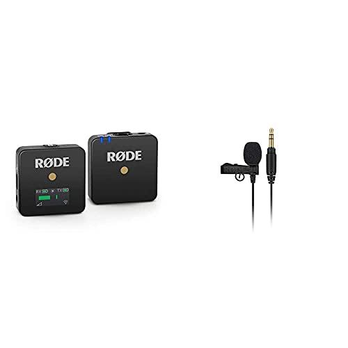 Røde Microphones Wireless Go, Sistema De Micrófono Inalámbrico Compacto + Lavalier Go Micrófono Portátil Profesional, Negro