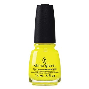 China Glaze Nail Lacquer with Hardner - Collection 2015 Electric Nights - Daisy Know My Name?, 1er Pack (1 x 14 ml)