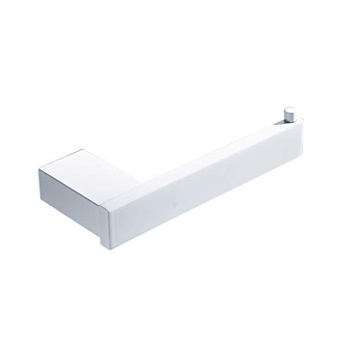 LINA Porte-Rouleau de Papier hygiénique, Porte-Serviette en Papier Peint Blanc, Porte-Rouleau Simple en Papier Salle de Bain, Porte-Rouleau, Mural