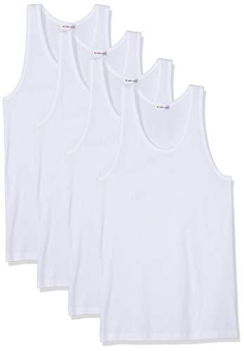Eminence Herren Promo Classiques Unterhemd, Weiß (Blanc/Blanc/Blanc/Blanc 0001), Medium (Herstellergröße: 3) (4er Pack)