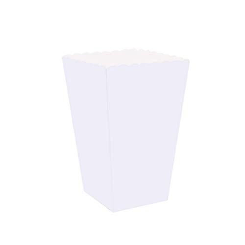 jojofuny 100 unidades de caixas de pipoca de papel ótimas para filmes, circos e estádios da MT Products (branca)