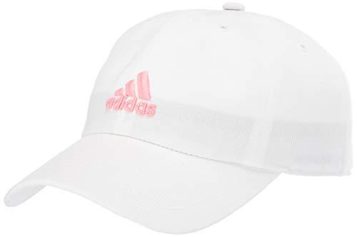 adidas Damen Saturday Cap, Damen, Kappe, verstellbare Kappe, Saturday Relaxed Adjustable Cap, Weiß/Glory Pink, Einheitsgröße
