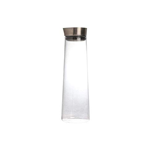 MWPO Jarra de 1.5 L/Litro con Tapa, Hervidor de Vidrio Salida Grande Jarra de Agua Calor Recipiente Transparente Impermeable Tetera de Vidrio Tetera Jarra de Jugo de Café (Una Olla, Sin Accesor