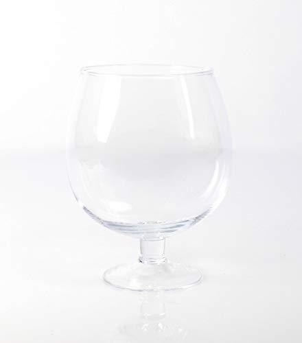 Vase Design 60cm Grand Vase en Verre Transparent INNA-Glas Grand Vase Conique WANJA sur Pied /Ø 13cm