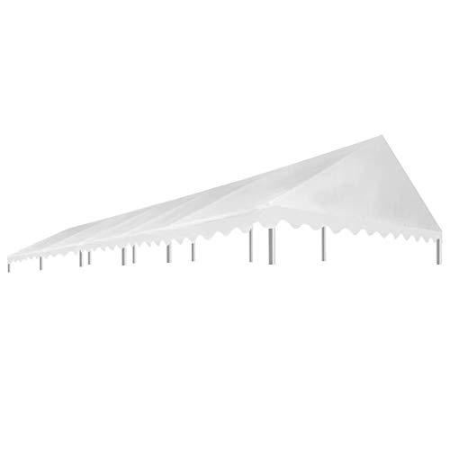 vidaXL Partyzelt Dach 5x10m 450g/m² Ersatzdach Dachplane Zeltdach Pavillondach