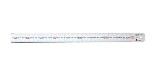 シンワ測定(Shinwa Sokutei) 直尺 シルバー 1m JIS1級 13048