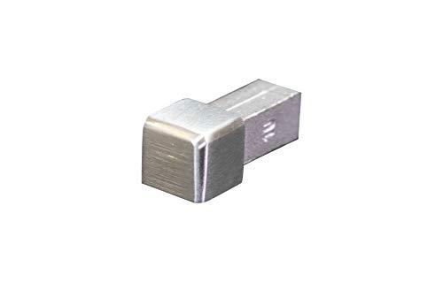 Fuchs ECO-LINE Vierkante rand – Hoogte: 10 mm RVS V2A Geborsteld Tegel Trim Corner
