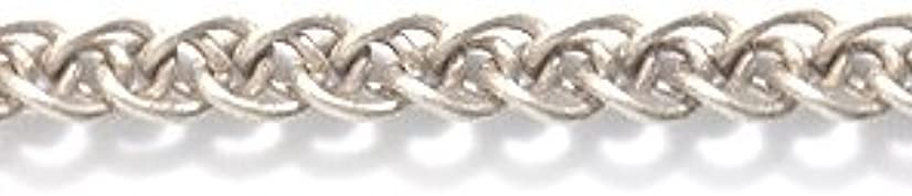 Shipwreck Beads Electroplated Brass Double Curb Chain, 3mm, Metallic, Antique Silver, 2-Feet, Unfinished