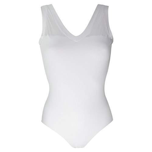 Intermezzo 31416 Bodyuvered - Body da danza da donna, colore: Bianco (001), taglia: M
