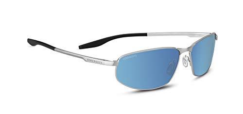 SERENGETI Matera, Occhiali da Sole Unisex – Adulto, Brushed Silver, Medium