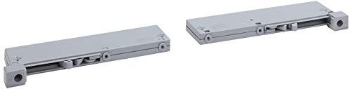 Express Möbel Dämpfungsbeschläge  Grau BxHxT 4,5x2x17 verschiedenes Zubehör zur Auswahl