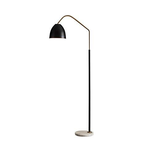 Staande Lamp-LED vloerlamp for Living Room-Permanent Light for Slaapkamers, Office-studie huis Modern Creative Vertical Fishing Light LED (Color : Black, Size : 60cm*173cm)