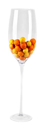 Überdimensionales Weinglas SEHR GROSS, elegante Blumenvase und Wohnzimmerdekoration WOW...