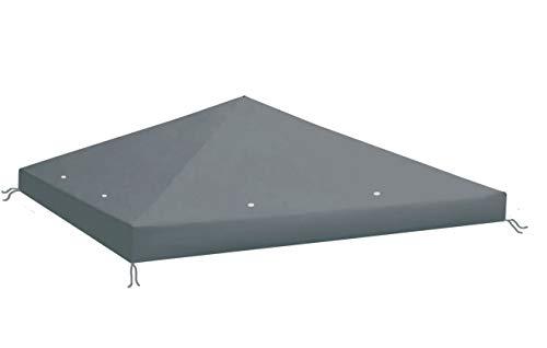 QUICK STAR Ersatzdach aus PE für Pavillon 3x3m Anthrazit RAL 7012 Ersatzbezug Pavillondach