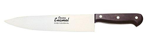 Cocina Enamel Fenol Prof Cuchillo de Cocina, Acero Inoxidable, Negro, 17 cm