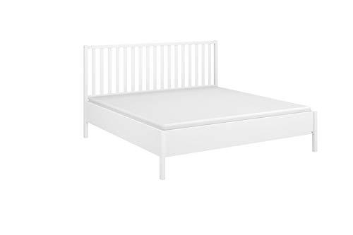Rauch Möbel Seattle Bett Futonbett in Weiß und Landhaus Stil Liegefläche 160 x 200 cm Gesamtmaße Bett BxHxT 168 x 111 x 209 cm