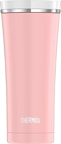 Thermos Sipp Stainless Steel 16 Ounce Travel Tumbler, Matte Pink (NS105PK4)