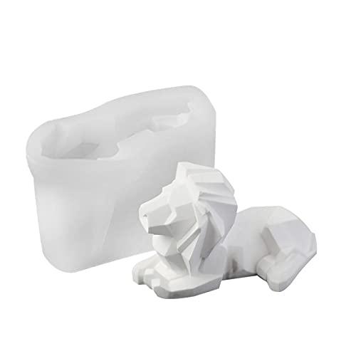 Molde de vela de león 3D Molde de silicona Moldes de resina de la resina de aromaterapia con aromaterapia de cera Moldes de fabricación de moldes de joyería de cristal Molde para decoración del hogar