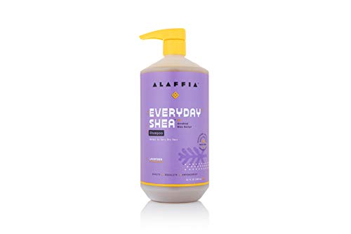 Alaffia - EveryDay Shea Shampoo - Normal to Very Dry Hair, Helps Clean and Protect without Stripping Natural Oils with Shea Butter and Coconut Oil, Fair Trade, Lavender, 32 oz