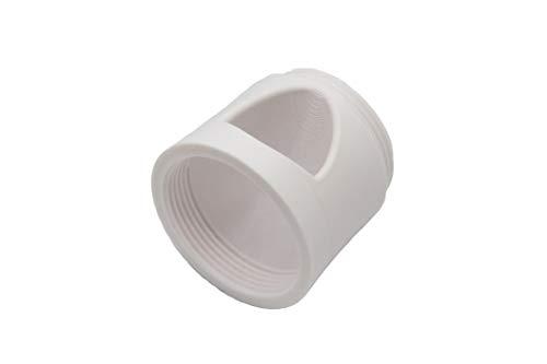 Generisch Pooldüse für Intexpool, abgewinkelt für bessere Umwälzung und Reinigung inkl. Außengewinde zur Montage der Poolbeleuchtung