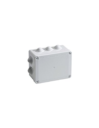boite de dérivation - a tétines - 240 x 190 x 90 mm - gris - boite étanche - iboco 05538