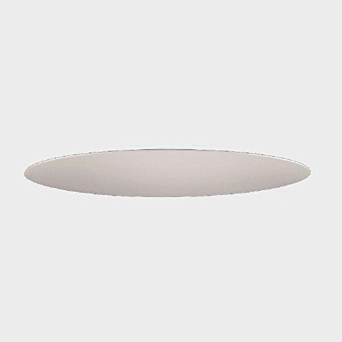 Sichtblende zur Deckenleuchte - Für 50 cm Durchmesser - Chintz-Stoff Weiß - inklusive LED-Taschenlampe