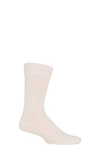 J. Alex Swift Hommes et Dames 1 paire lisses alpaga Chaussettes 11-13 crème unisexe