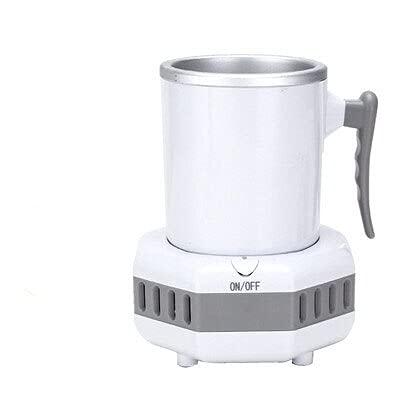 LUHUANONG Oficina de Verano Copa de Enfriamiento Rápido Taza Portátil Beber Coche Mini Coche Bebida Frigorífico Cerveza Eléctrica Botella de Enfriamiento Taza De Enfriamiento (Color : White US Plug)
