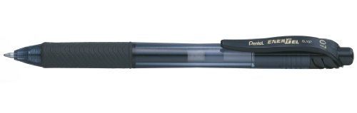 Pentel EnerGel X BL107-AX Gel-Tintenroller, schwarz, 0,7 mm Strichstärke, Druckmechanik, nachfüllbar