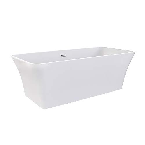 i-flair Freistehende Badewanne KARLSTAT Design 170 x 80 x 58 cm - aus Acryl in Weiß