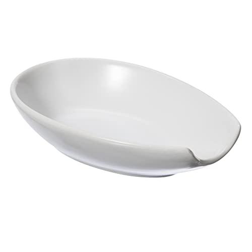Oggi, White Ceramic Spoon Rest, 2.3