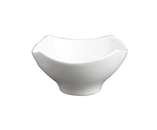 Home Snack Dip Bowls Servies Japanse Keramische Kom, Wit Antislip Servies Hoge voet Grote Slakom Kalebas Woonkamer Fruitmand Fruitmand, Grootte [5/5.6/7.4 Inch] Keuken Restaurant Gif