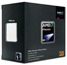 AMD Phenom X4 9950 Black Edition. 125W Power, Socket AM2+, 4MB Cache, 2600 MHz.