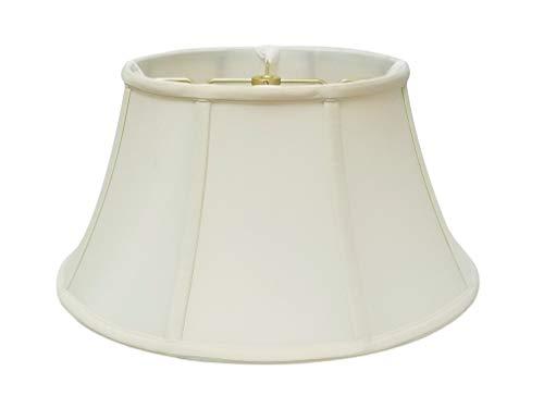 Royal Designs Shallow Drum Bell Billiotte Lamp Shade, Eggshell, 13 x 19 x 11.26 (BS-711-19EG)