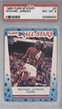 Michael Jordan PSA GRADED 8 (Basketball Card) 1989-90 Fleer - All-Stars Stickers #3