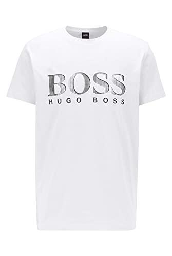 BOSS T-Shirt RN Camiseta, Blanco, S para Hombre