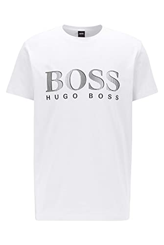 BOSS T-Shirt RN Camiseta, Blanco, L para Hombre