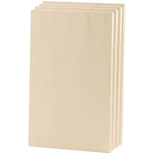 Wooden Rectangles for Crafts, Panel Board (10.6 x 7 in, 6-Pack)