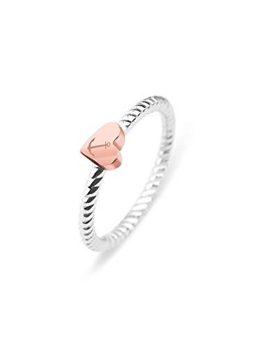 PAUL HEWITT Damen Edelstahl Ring Anchor Love - Damenring Edelstahl, Ring für Damen in Silber mit Anker-Schmuck (Rosegold)