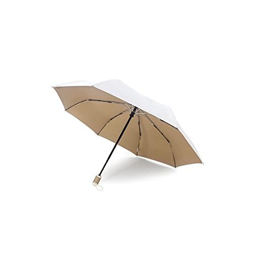 24580. Ombrellone automatico di apertura e chiusura di chiusura, ombrello antivento, leggero, compatto, antiproiettile, protezione solare, forte ombrello pieghevole con serratura di sicurezza, protezi