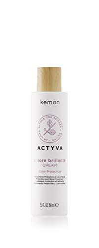Kemon Actyva Colore Brillante Cream - Haar-Farbschutz Creme ohne Ausspülen, Haar-Pflege für coloriertes und strapaziertes Haar - 150 ml