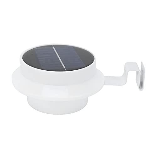 JYLSYMJa Lámpara de Valla Solar, lámpara de canalón Impermeable de 13 LED, iluminación de jardín para escaleras, senderos, Pared Exterior, luz Blanca, Interruptor automático controlado por luz