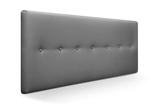 SUENOSZZZ-ESPECIALISTAS DEL DESCANSO Cabecero de Cama Dakota tapizado en Polipiel para Camas de 90 (100 x 57 cm) Polipiel Ceniza
