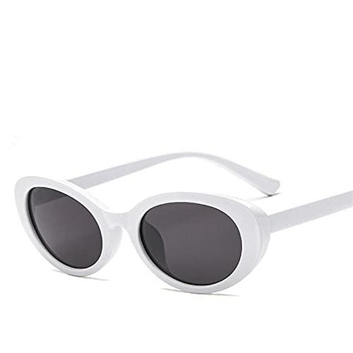 RETRO - Gafas de sol pequeñas ovaladas FeMale VintageGafas de sol de color negro rojo y blanco para conducción, golf, pesca, voleibol de playa, vela