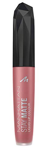 Manhattan Stay Matte Liquid Lip Colour, Matter, wisch- und wasserfester Lippenstift für langanhaltende Farbintensität, Farbe Shopping in Soho 210, 1 x 5,5ml