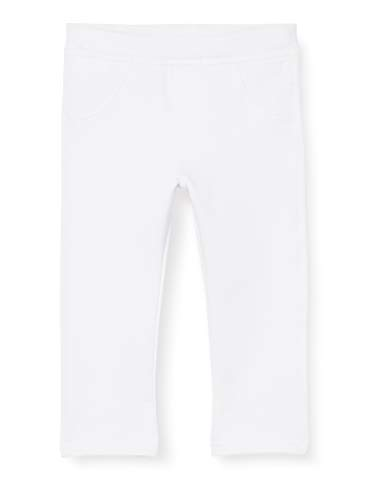 United Colors of Benetton 4CY45538E Pantaloni, Bianco (Bianco 101), 74 Unisex-Bimbi