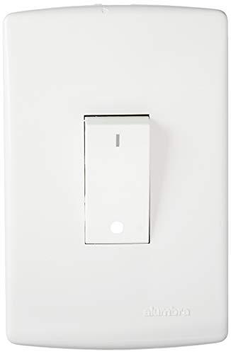 Conjunto com 1 Interruptor Bipolar Simples, Alumbra, Siena 6519, Branco