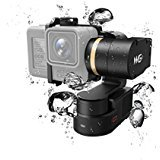 Feiyu Tech FY WG2 Waterproof Wearable Gimbal and SBONY Lens Cloth, Anti-Lost Wrist Band and Quick Car Charger with Qualcomm 3.0 for GoPro Hero5/4/Session and Similar Dimensions Action Camera